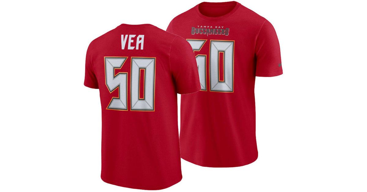 2f35f12dd Nike Vita Vea Tampa Bay Buccaneers Pride Name And Number Wordmark T-shirt  in Red for Men - Lyst