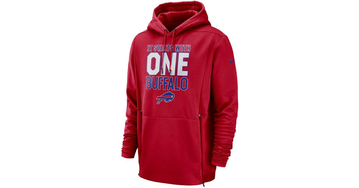 the best attitude 66678 07fef buffalo bills red hoodie