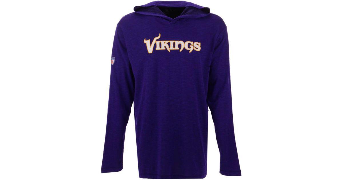 online retailer 1c305 ce309 Nike Purple Minnesota Vikings Dri-fit Cotton Slub On-field Hooded T-shirt  for men