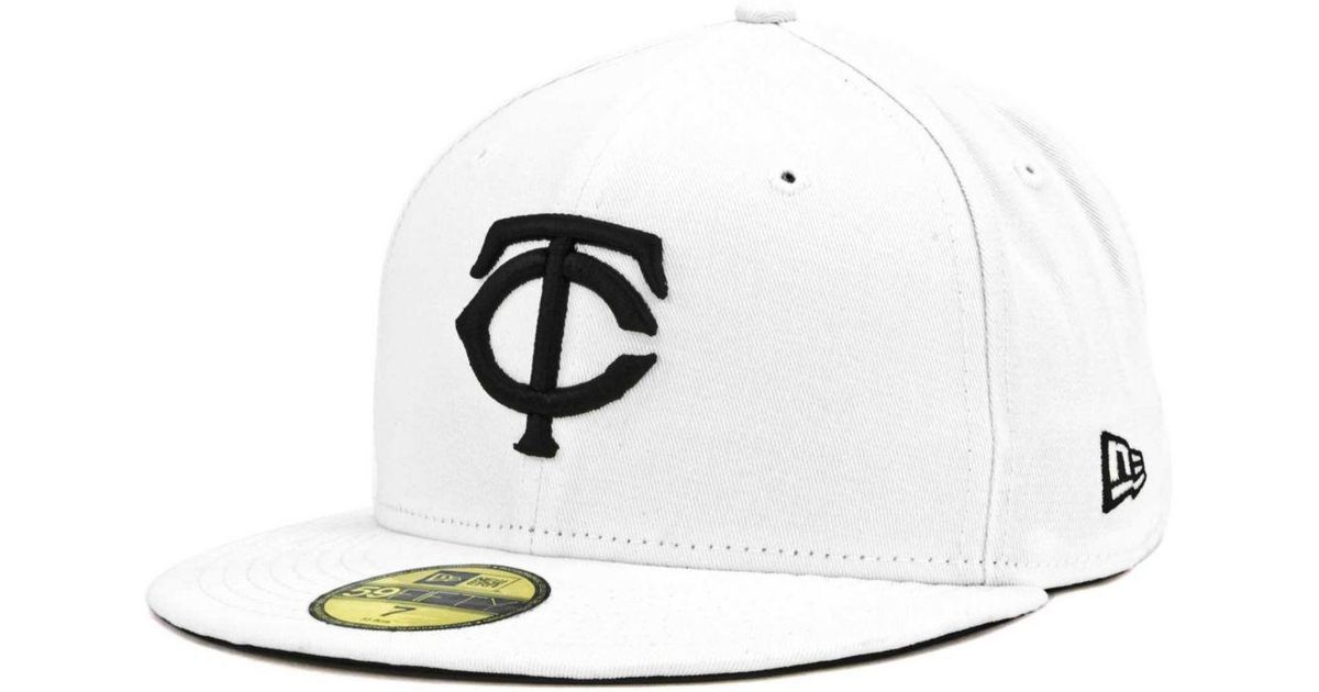 huge discount cb527 45a10 Lyst - KTZ Minnesota Twins Mlb White And Black 59fifty Cap in White for Men