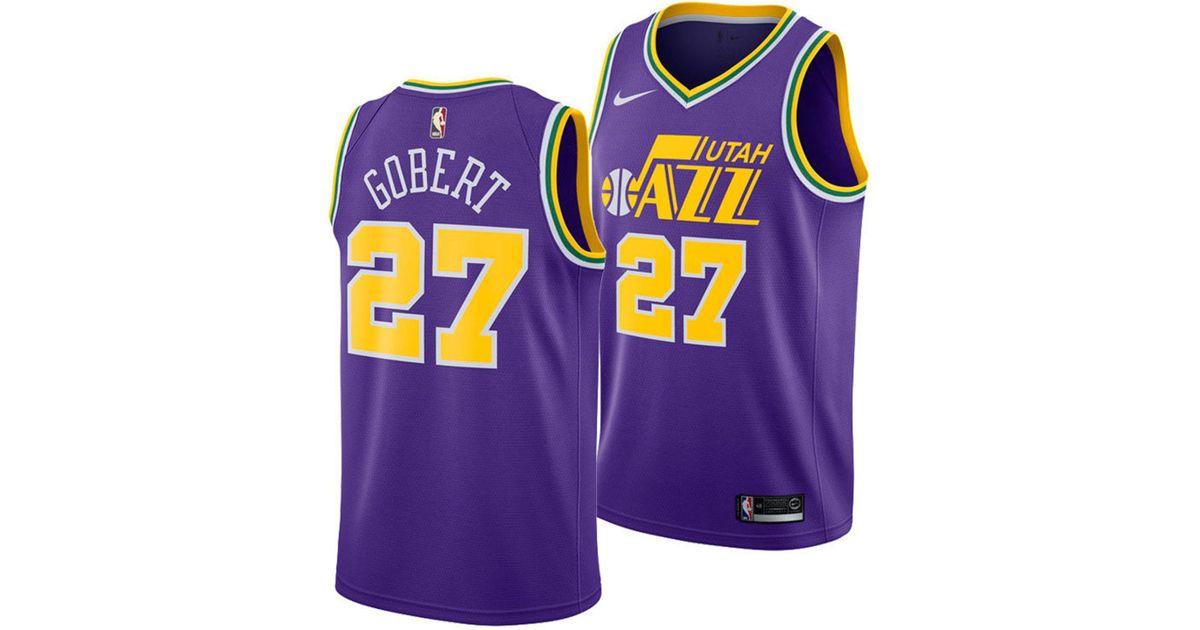 1082042d3 Lyst - Nike Rudy Gobert Utah Jazz Hardwood Classic Swingman Jersey in  Purple for Men