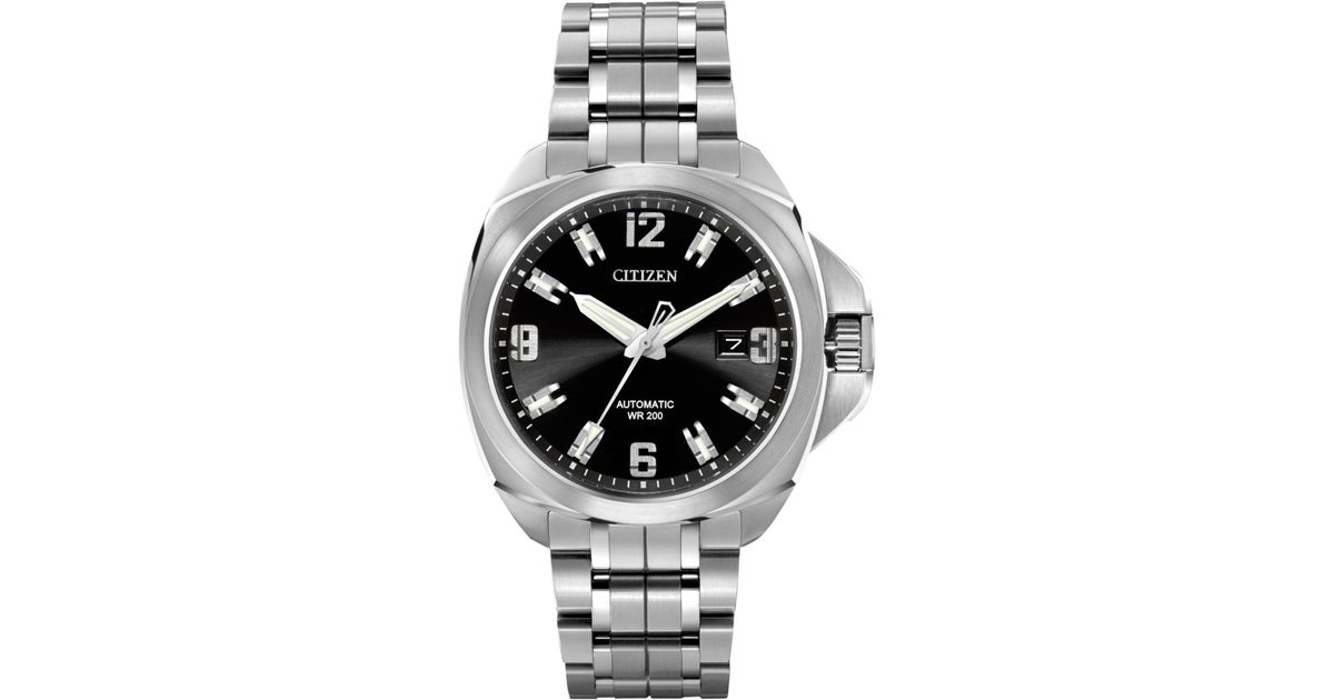 1926773e94c Lyst - Citizen Men s Automatic Grand Touring Eco-drive Stainless Steel  Bracelet Watch 44mm Nb0070-57e in Gray for Men