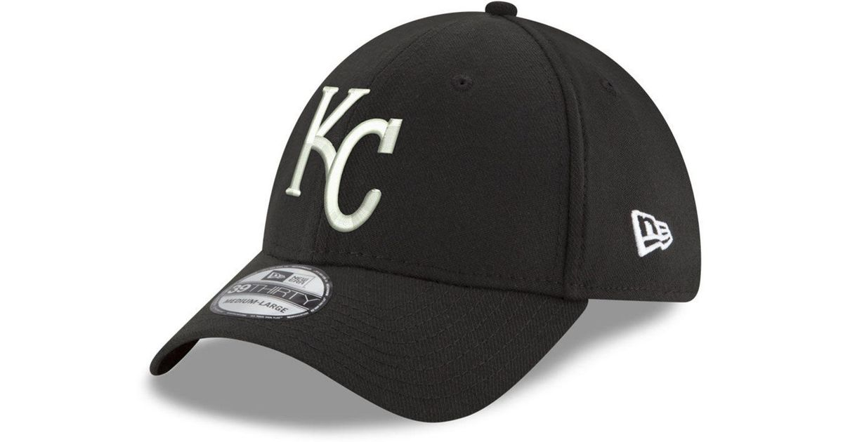exclusive range presenting temperament shoes KTZ Synthetic Kansas City Royals Dub Classic 39thirty Cap in Black ...