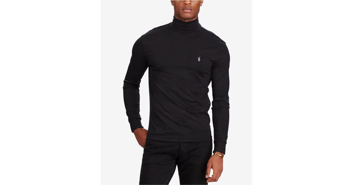 d69b21b93 Polo Ralph Lauren Black Men's Soft-touch Turtleneck for men