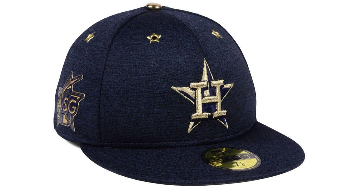 new styles b2124 9bfe5 KTZ Blue Houston Astros 2017 All Star Game Patch 59fifty Fitted Cap for men