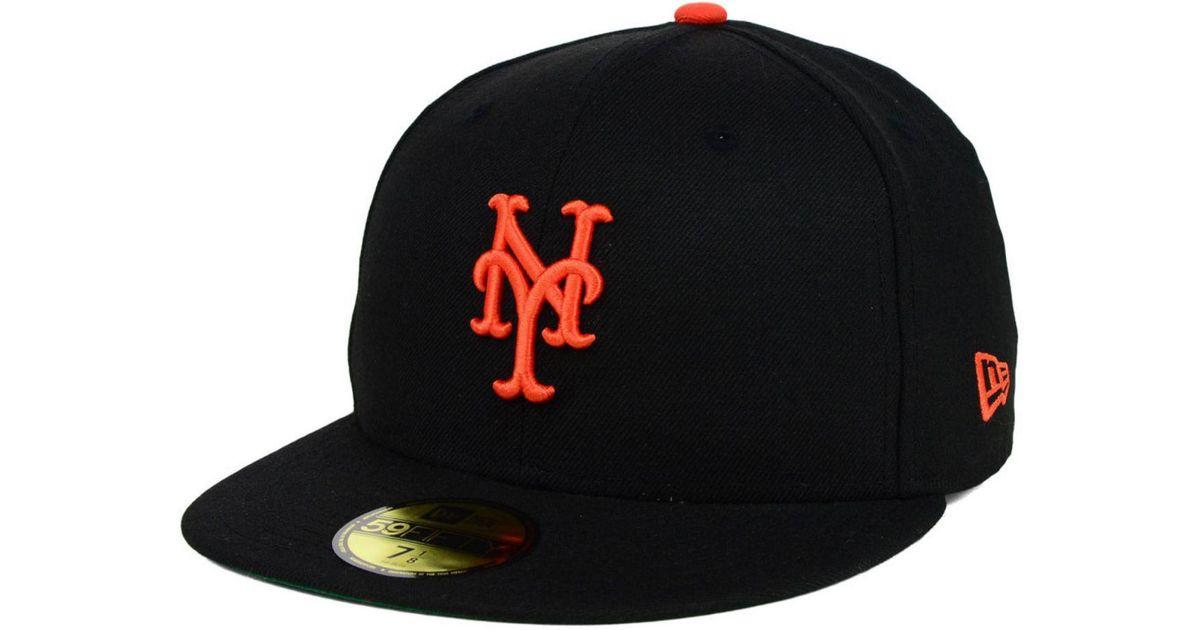 881811d15aa ... netherlands lyst ktz new york giants mlb cooperstown 59fifty cap in  black for men c99e4 e7936 ...