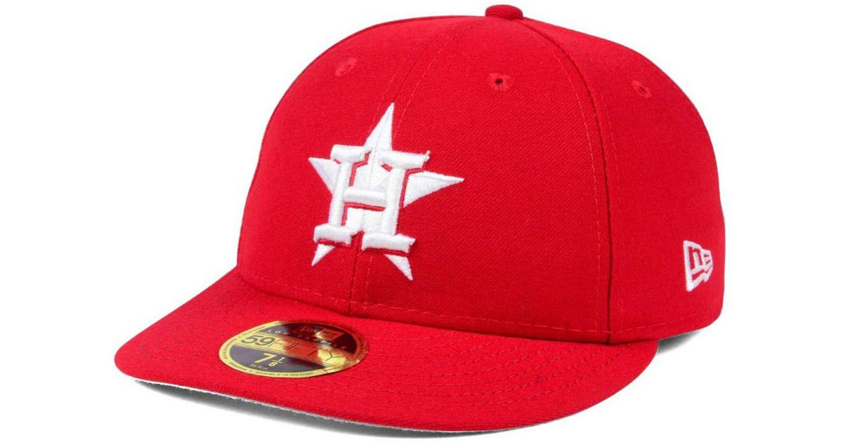 pretty nice c8235 80c97 KTZ Houston Astros Low Profile C-dub 59fifty Fitted Cap in Red for Men -  Lyst