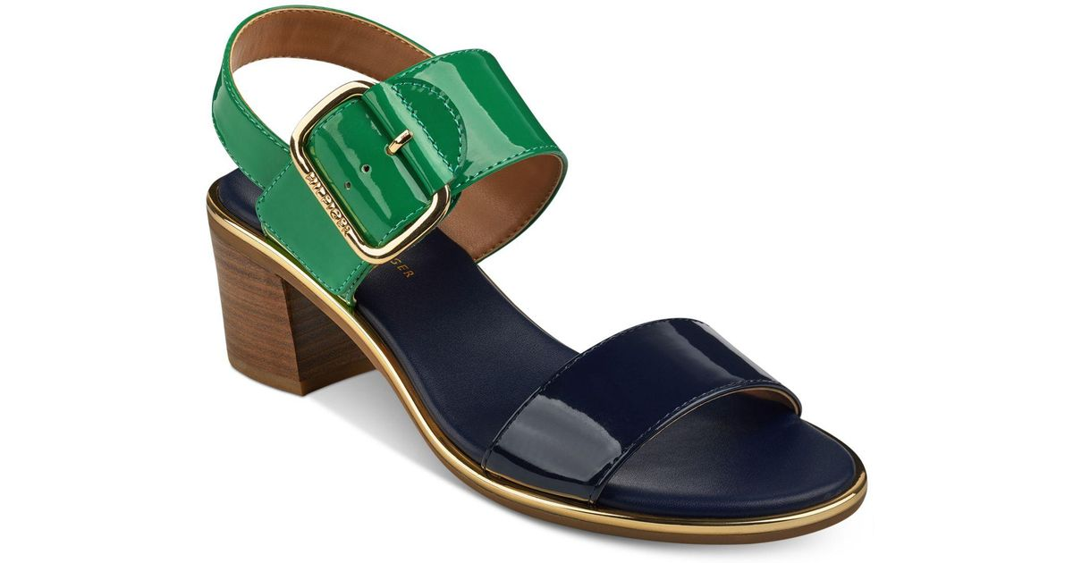Tommy Hilfiger Katz Block-Heel Dress Sandals Women's Shoes 1O9xpIyFso