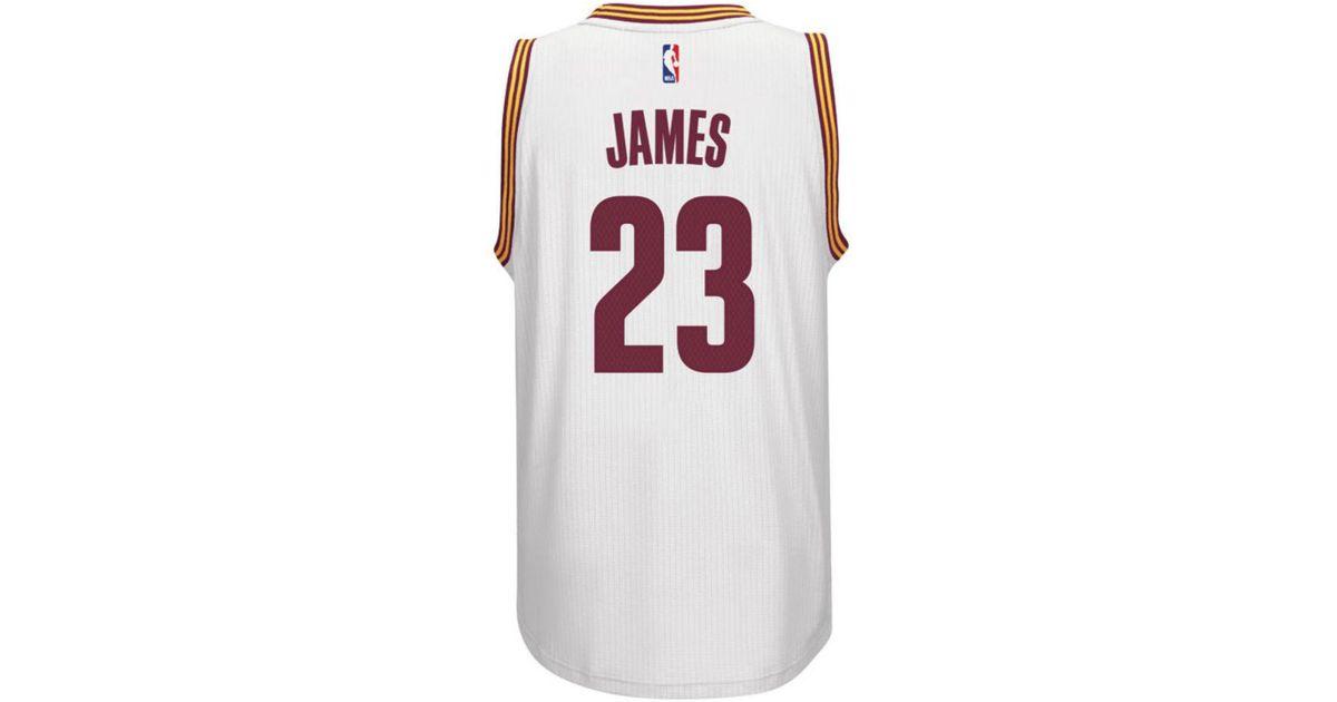 best website 89370 97812 Adidas Originals - White Men's Lebron James Cleveland Cavaliers Swingman  Jersey for Men - Lyst