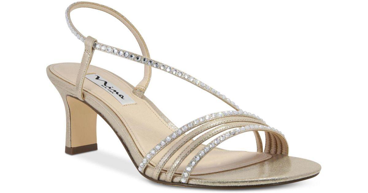Nina Leather Gerri Evening Sandals in