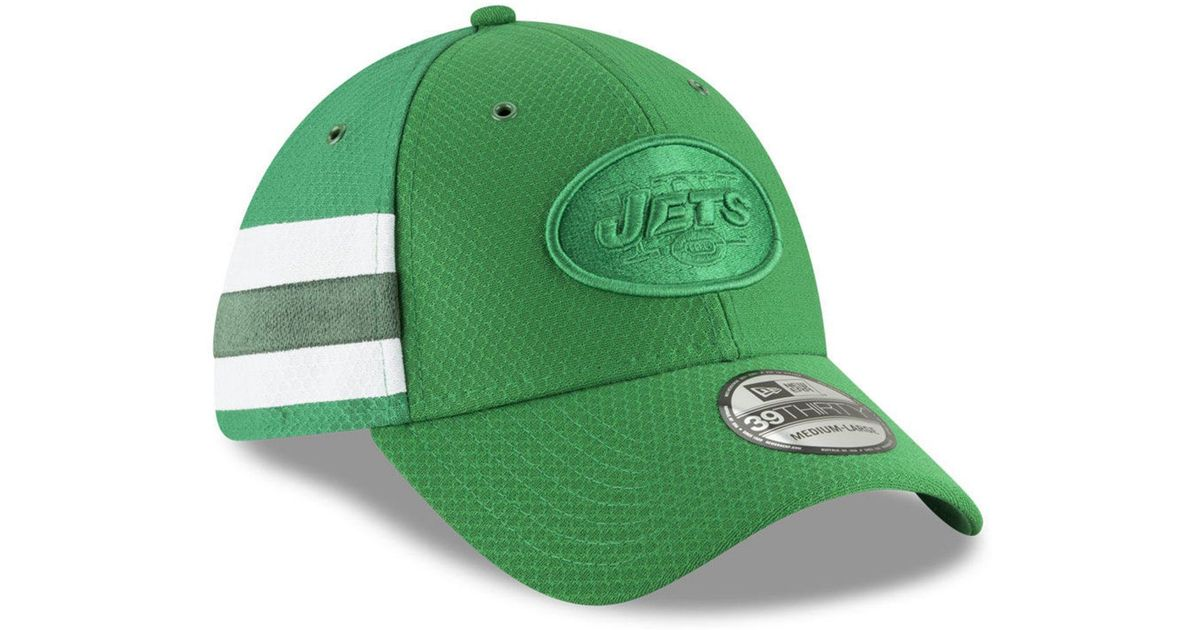 check out 3f57f b49c4 Lyst - KTZ New York Jets Official Color Rush 39thirty Stretch Fitted Cap in  Green for Men