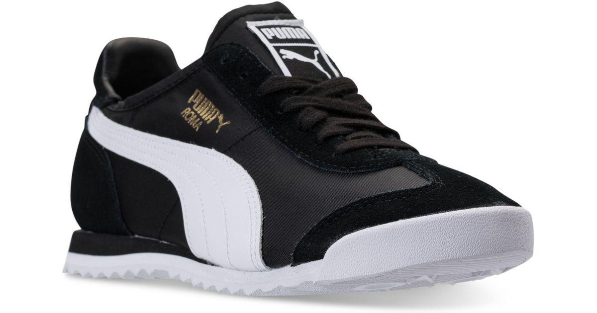 Lyst - PUMA Men s Roma Og Nylon Casual Sneakers From Finish Line in Black  for Men daf14e5c4c4e