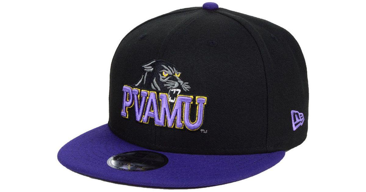 huge discount 3a0d7 b3570 Lyst - KTZ Prairie View A m Black Team Color 9fifty Snapback Cap in Black  for Men