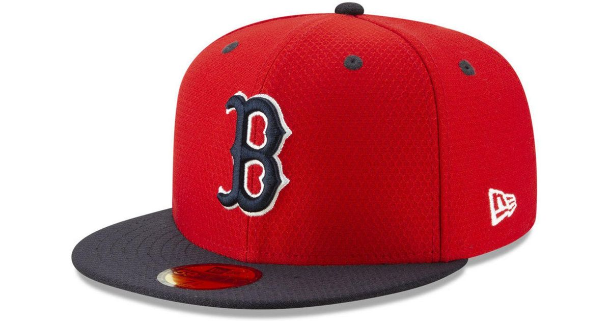 lowest price 473b5 3af91 Lyst - KTZ Boston Red Sox Batting Practice 59fifty-fitted Cap in Red for Men