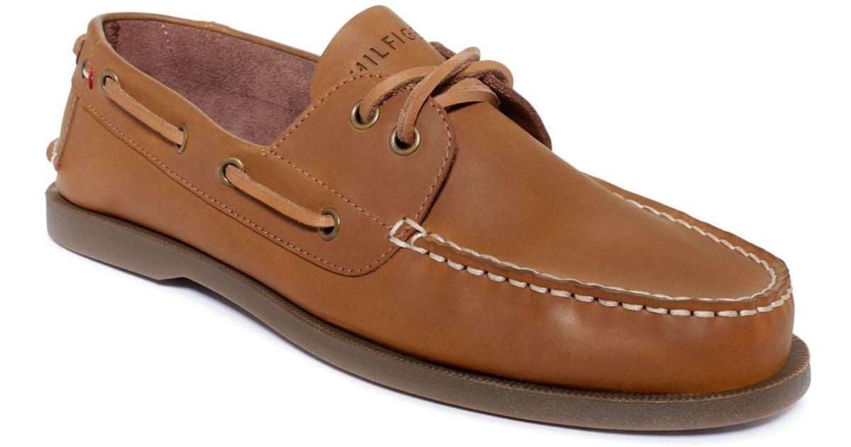 7e3584fecfb Tommy Hilfiger Men's Shoes, Bowman Boat Shoes in Brown for Men - Save 59% -  Lyst