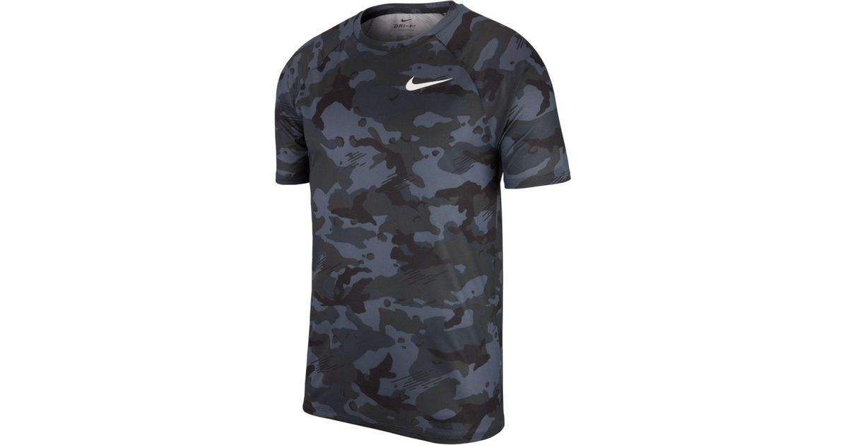 Lyst - Nike Dry Legend Camo-print T-shirt in Gray for Men 9ea084c84