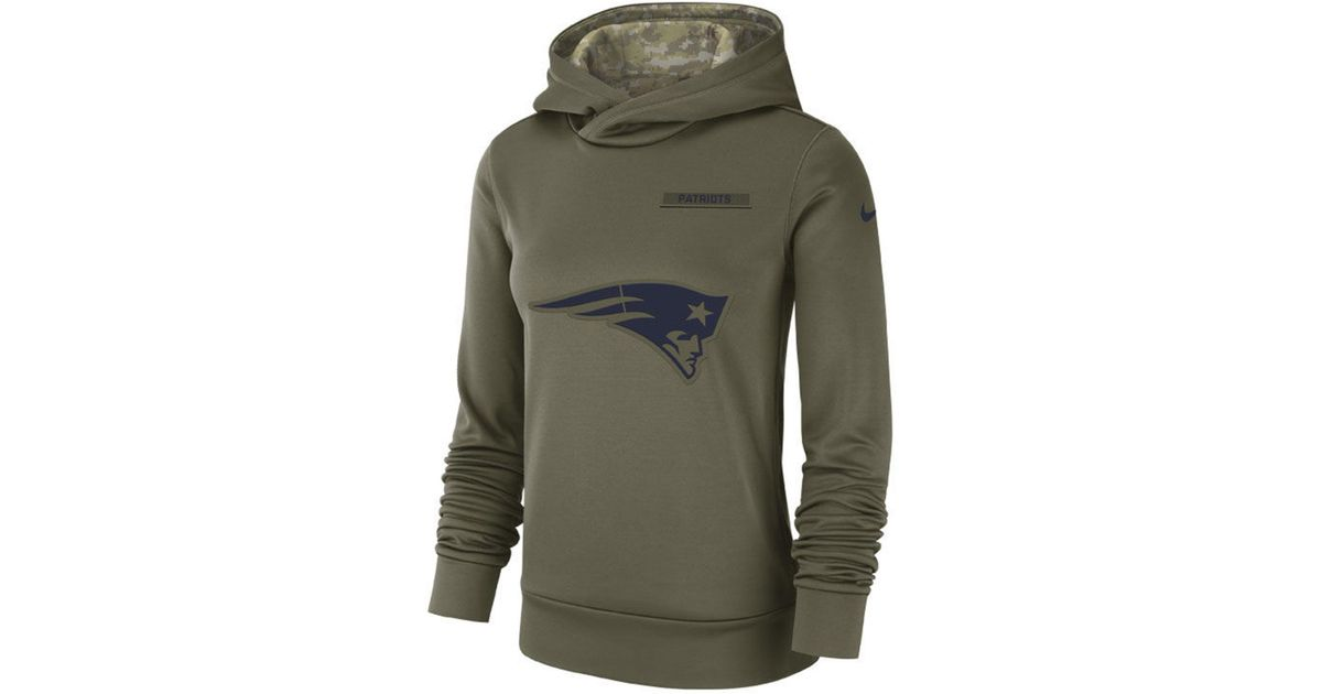 the best attitude 3d8d0 ab383 Nike Green New England Patriots Salute To Service Therma Hoodie