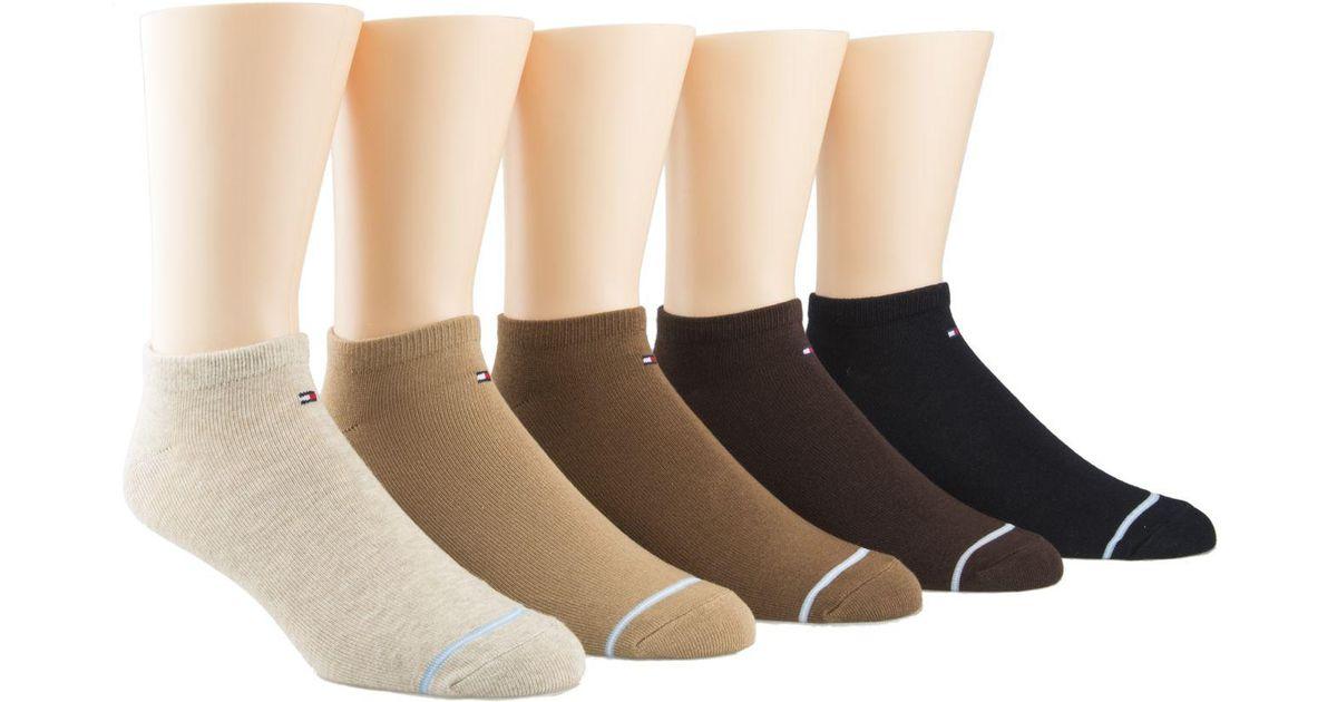 NWT Tommy Hilfiger Iconic Flag Logo Stripe Socks White Grey Black Gray