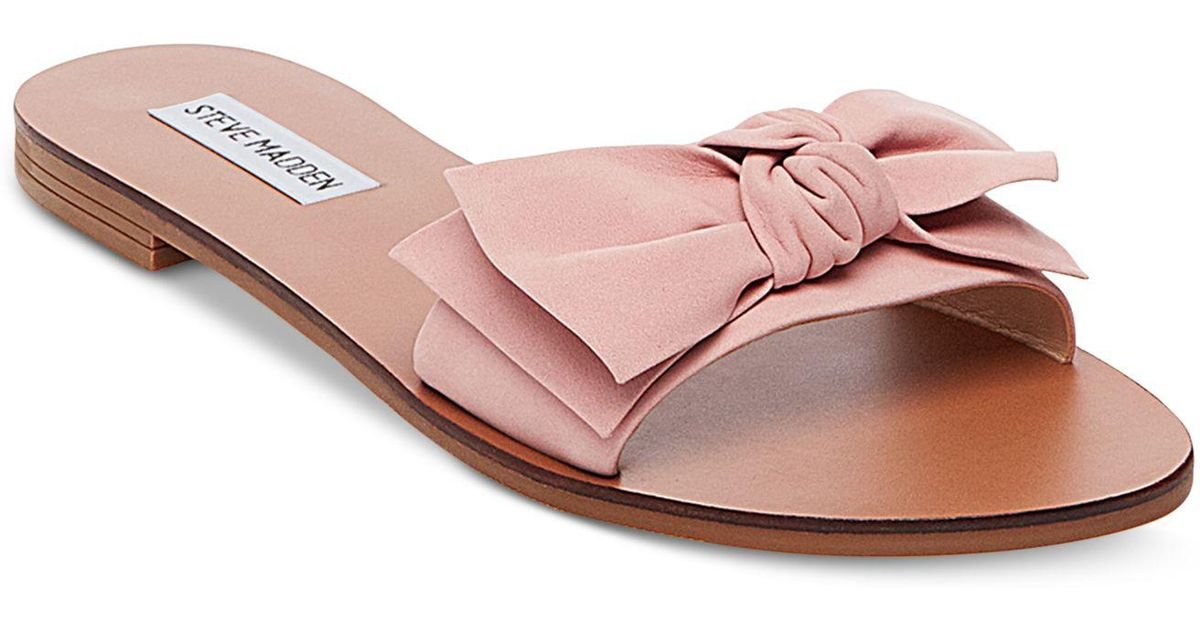 0903d8676afe83 Lyst - Steve Madden Women s Knotss Bow Sandals in Pink
