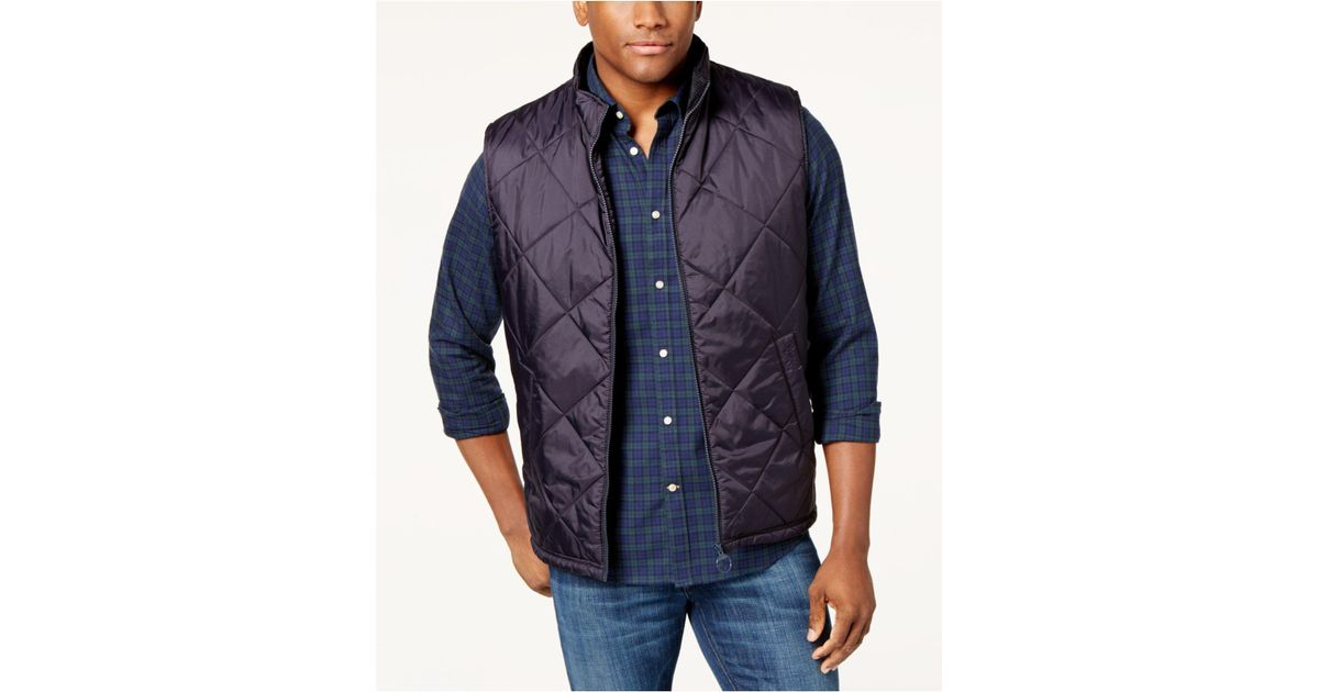 Lyst - Barbour Men's Finn Quilted Puffer Vest in Blue for Men : barbour mens quilted vest - Adamdwight.com