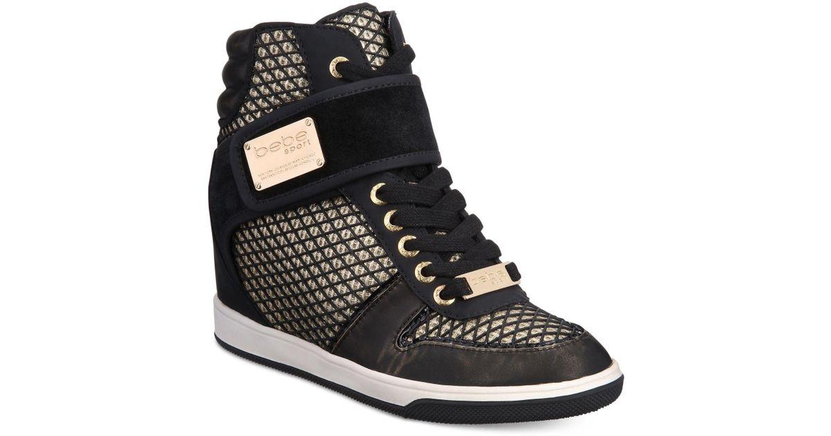 c9635006414 Bebe Calisto High-top Sneakers in Black - Lyst
