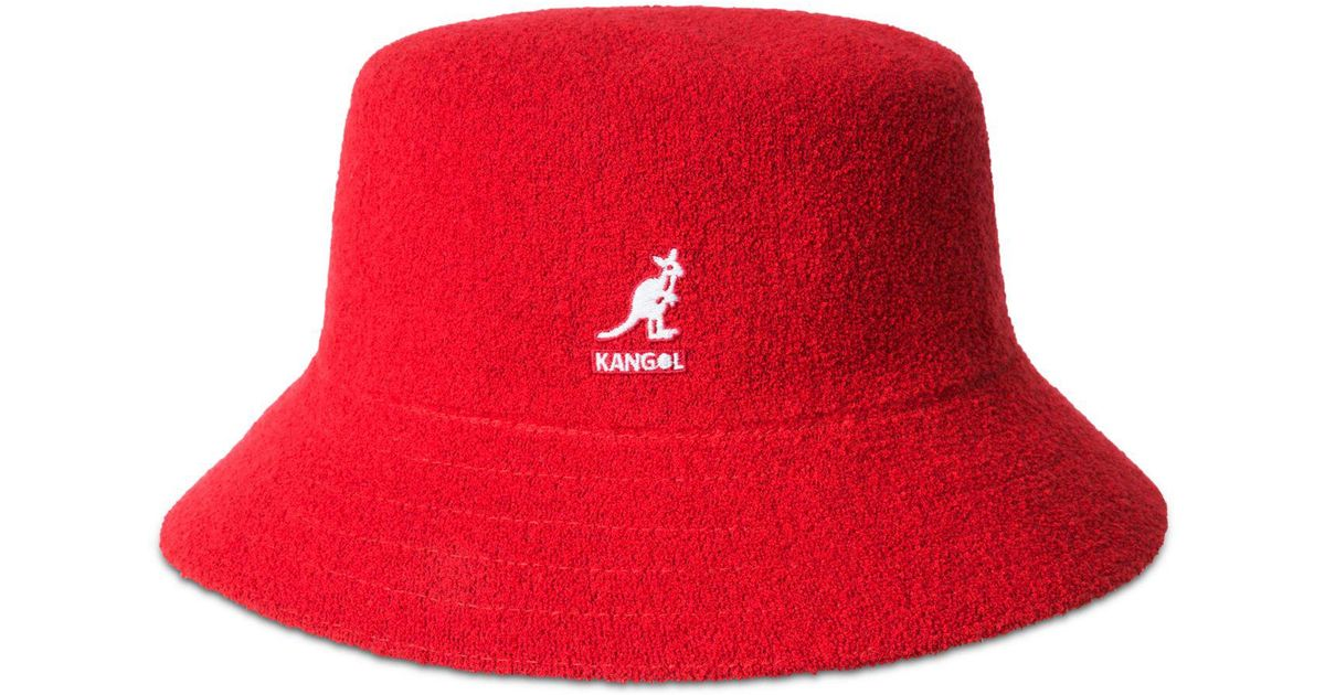8f1ad08f0 Kangol Red Bermuda Terry Bouclé Bucket Hat for men