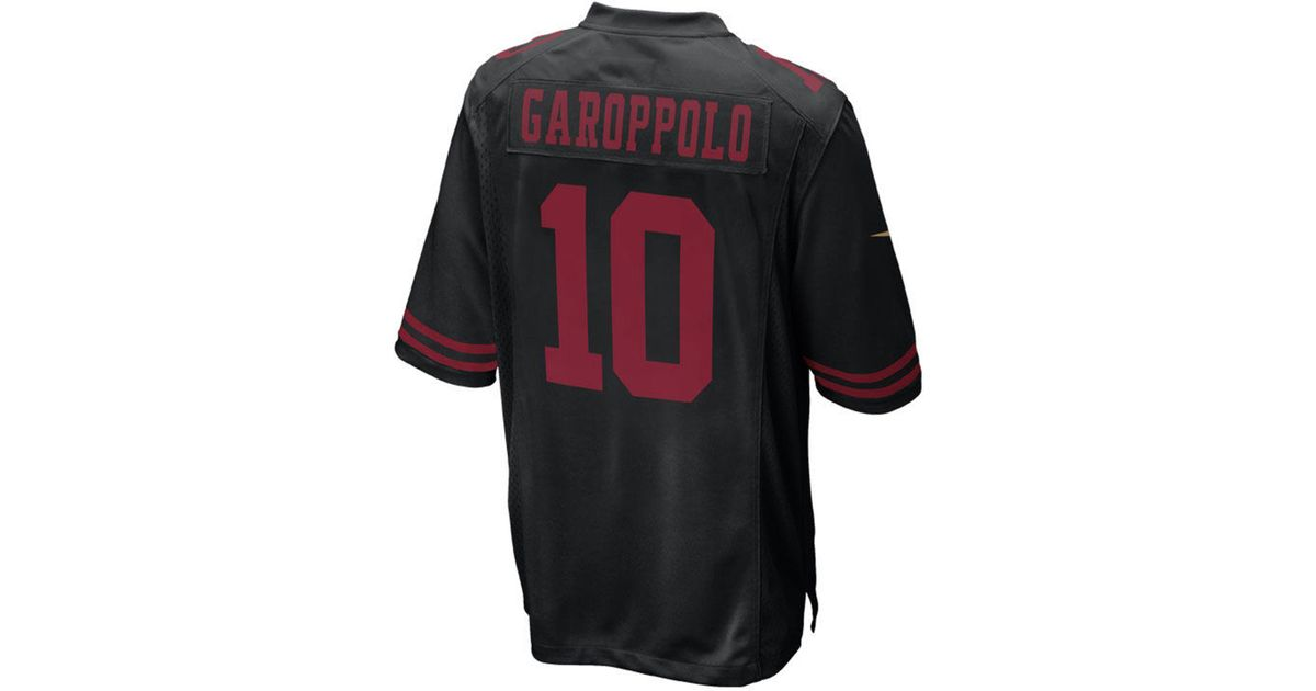 low priced a7048 9bce9 Nike Black Jimmy Garoppolo San Francisco 49ers Game Jersey for men