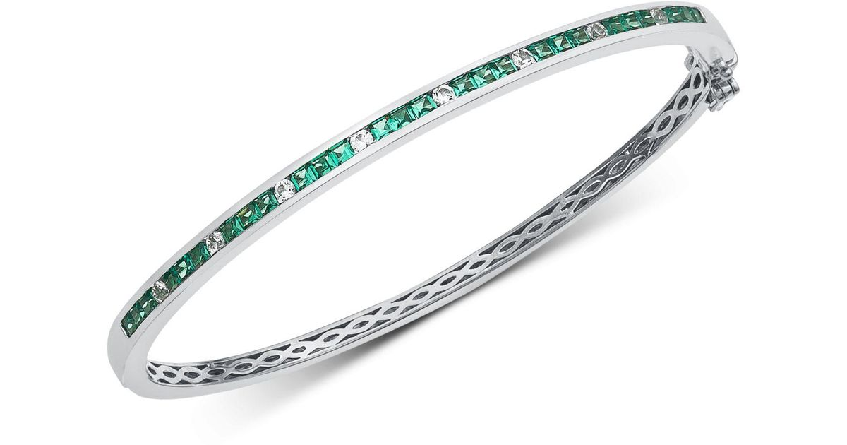 Platinum Sterling Silver White Sapphire Halo Cable Cuff Woven Bangle Bracelet