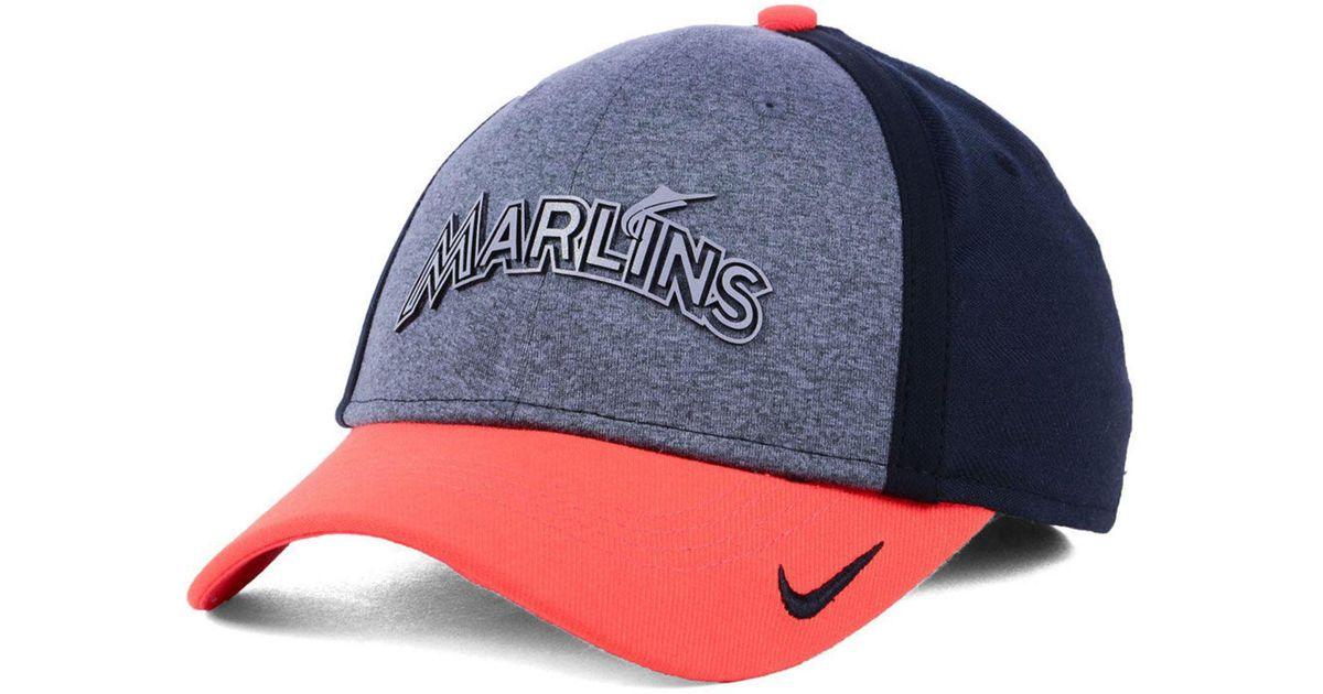 sale retailer ba5f1 c4ddb ... france lyst nike miami marlins team color reflective swooshflex cap for  men d0299 da6ad