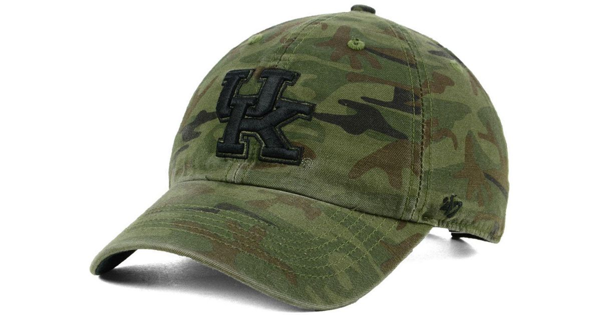 finest selection 0d7fc 14b77 Lyst - 47 Brand Kentucky Wildcats Regiment Clean Up Strapback Cap in Green for  Men