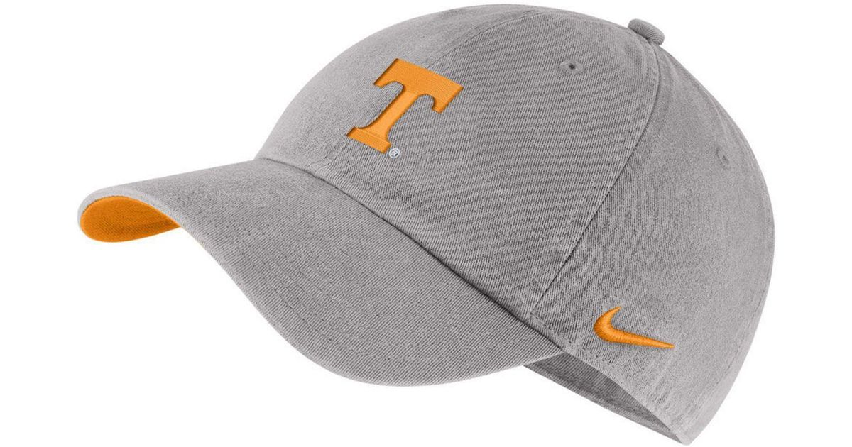 best website 95234 822bf Nike Tennessee Volunteers H86 Washed Strapback Cap in Gray for Men - Lyst