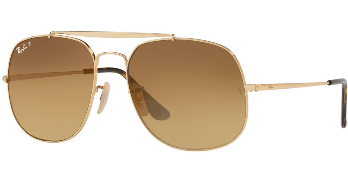 ... buy lyst ray ban polarized the general sunglasses rb3561 57 only at sunglass  hut in brown ... 57052b0b86ea