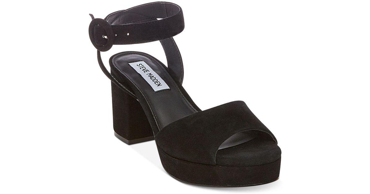 e051f64f035d Steve Madden Tickle Sandals in Black - Lyst