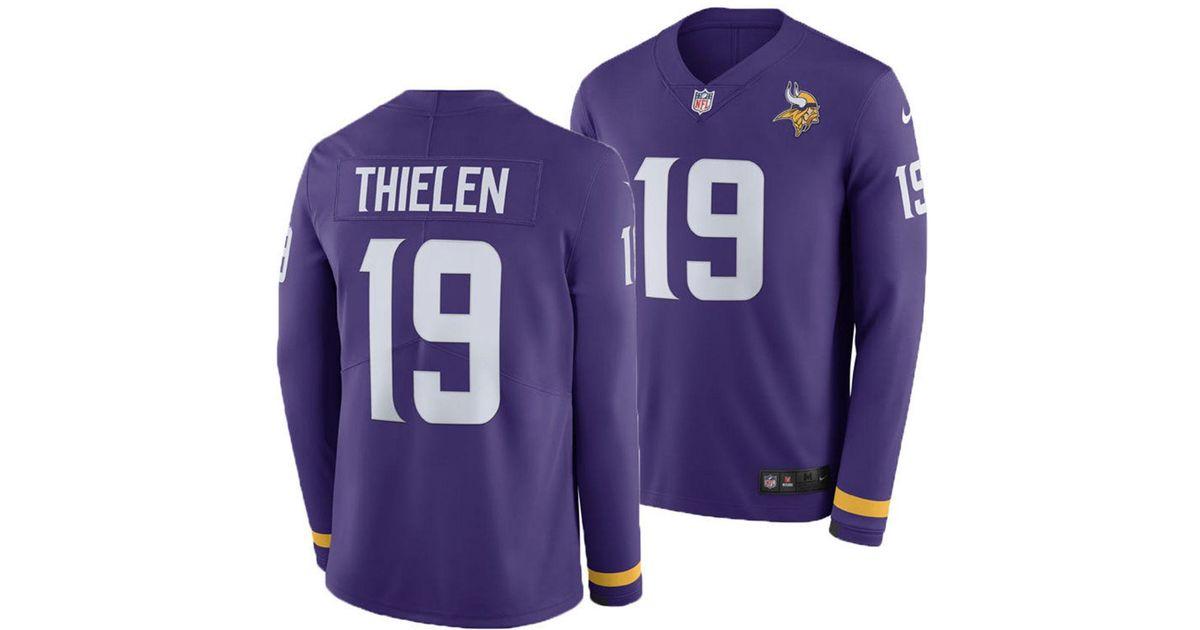 Lyst - Nike Adam Thielen Minnesota Vikings Therma Jersey in Purple for Men 17568bdff