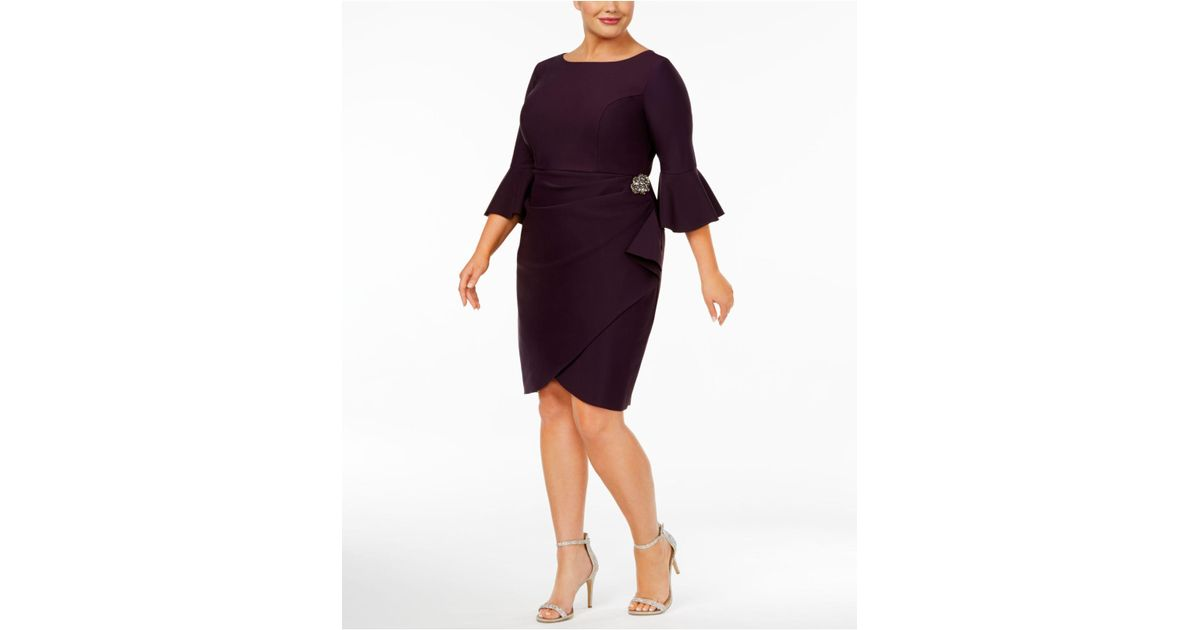 91c046002042 Lyst - Alex Evenings Womens Plus Embellished Knee-length Cocktail Dress in  Purple