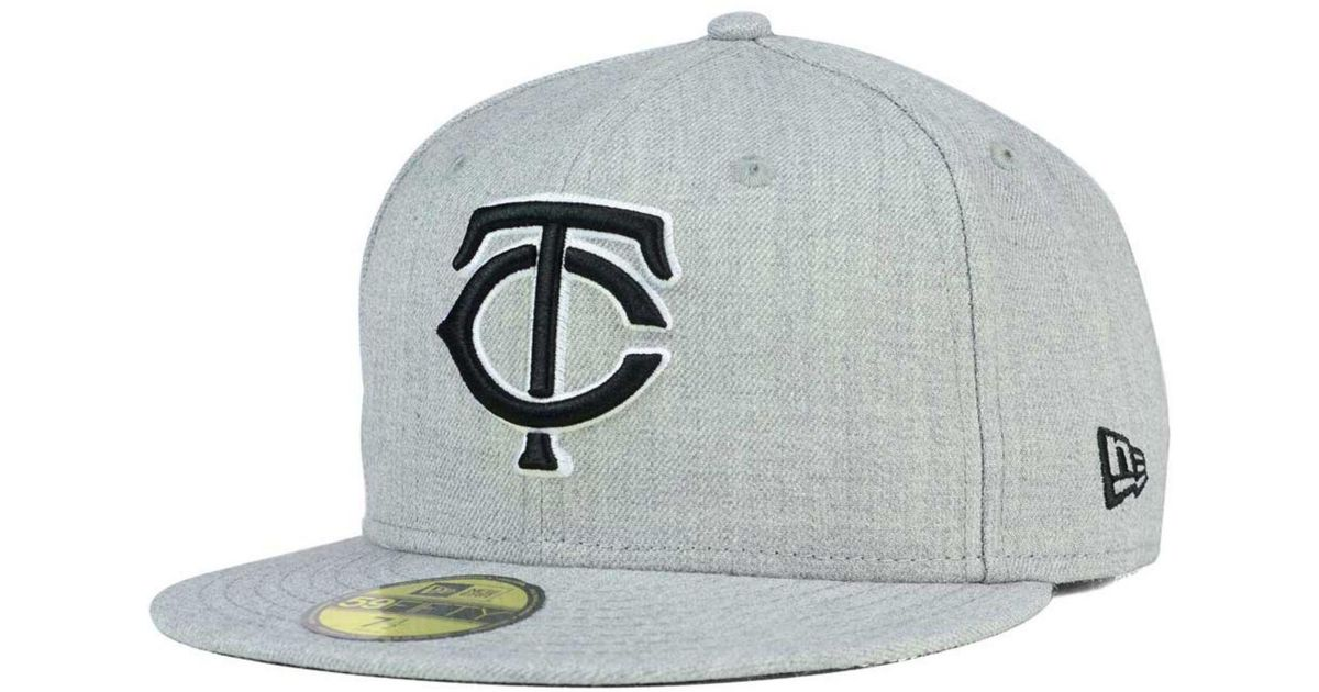sports shoes 829a0 8a39e Lyst - KTZ Minnesota Twins Heather Black White 59fifty Cap in Gray for Men