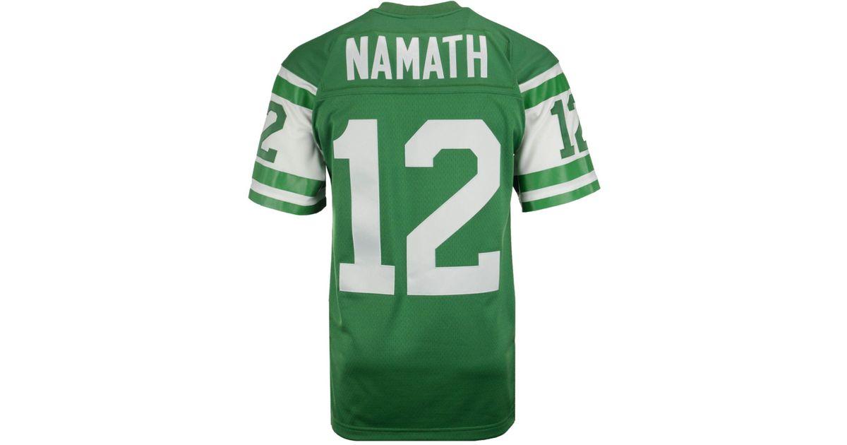 sale retailer 54d1f d15f6 Mitchell & Ness Green Men's Joe Namath New York Jets Replica Throwback  Jersey for men