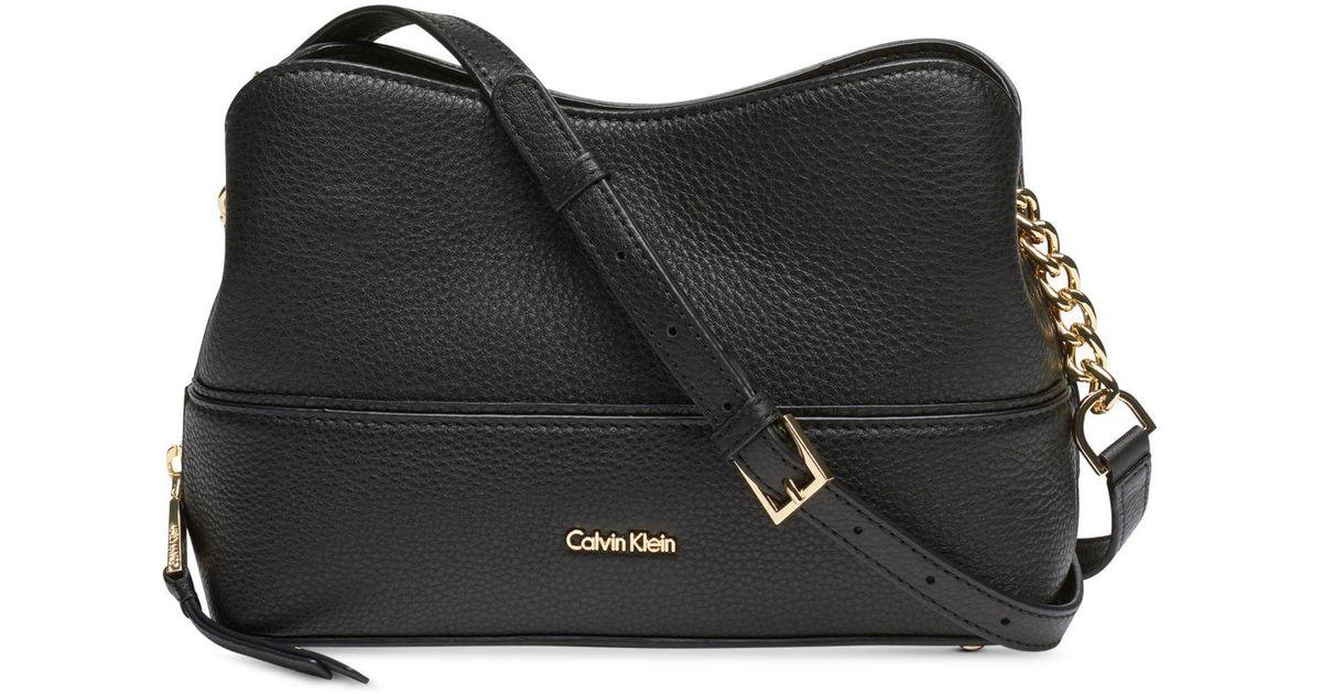37fbbeb3a06b Lyst - CALVIN KLEIN 205W39NYC Marie Leather Crossbody in Black