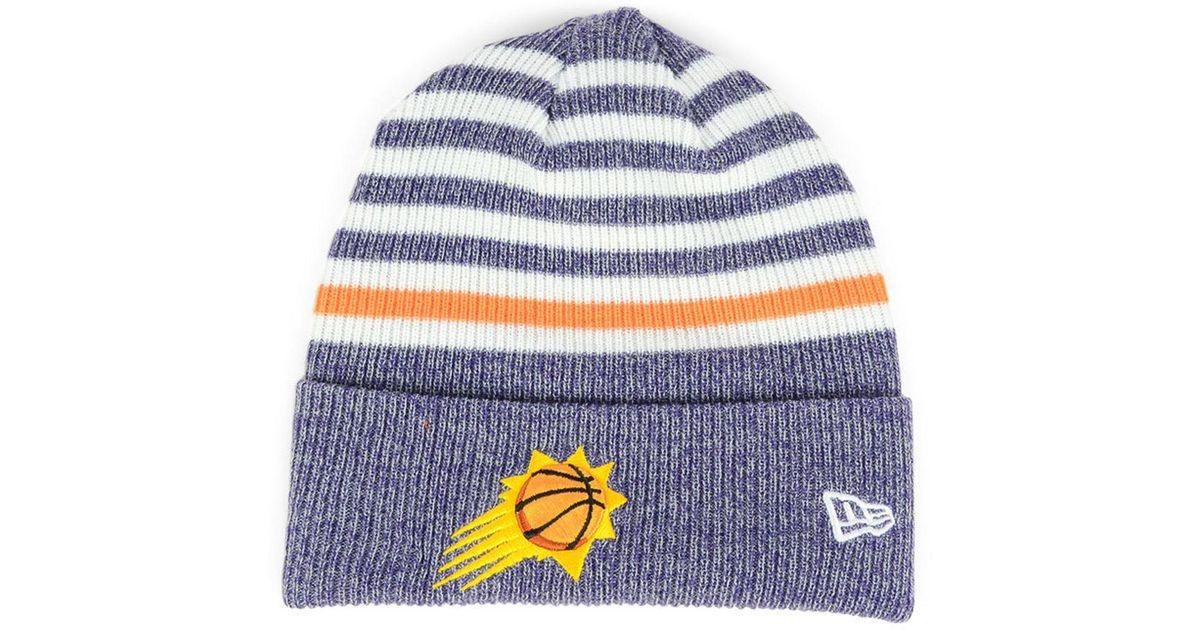 sale retailer 1ad22 d9829 KTZ Phoenix Suns Striped Cuff Knit Hat in Blue for Men - Lyst