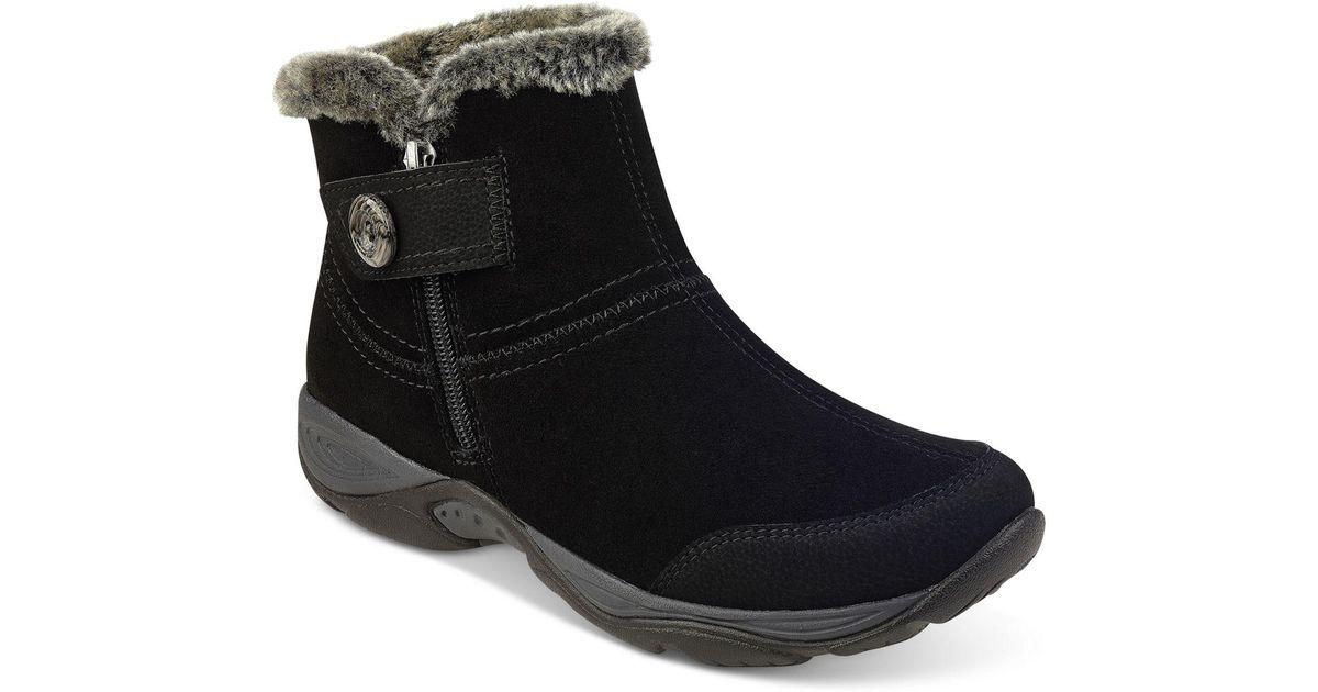 Lyst - Easy Spirit Eliria Cold-weather Boots in Black cf6c9e476fe2
