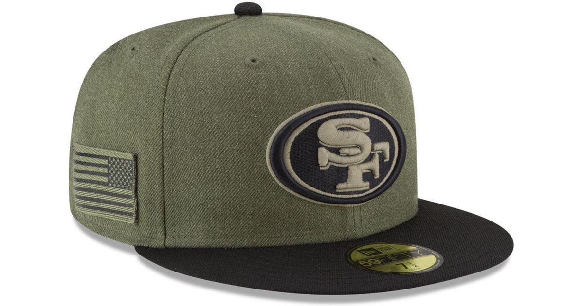 9ae1256de Lyst - KTZ San Francisco 49ers Salute To Service 59fifty Fitted Cap in  Green for Men