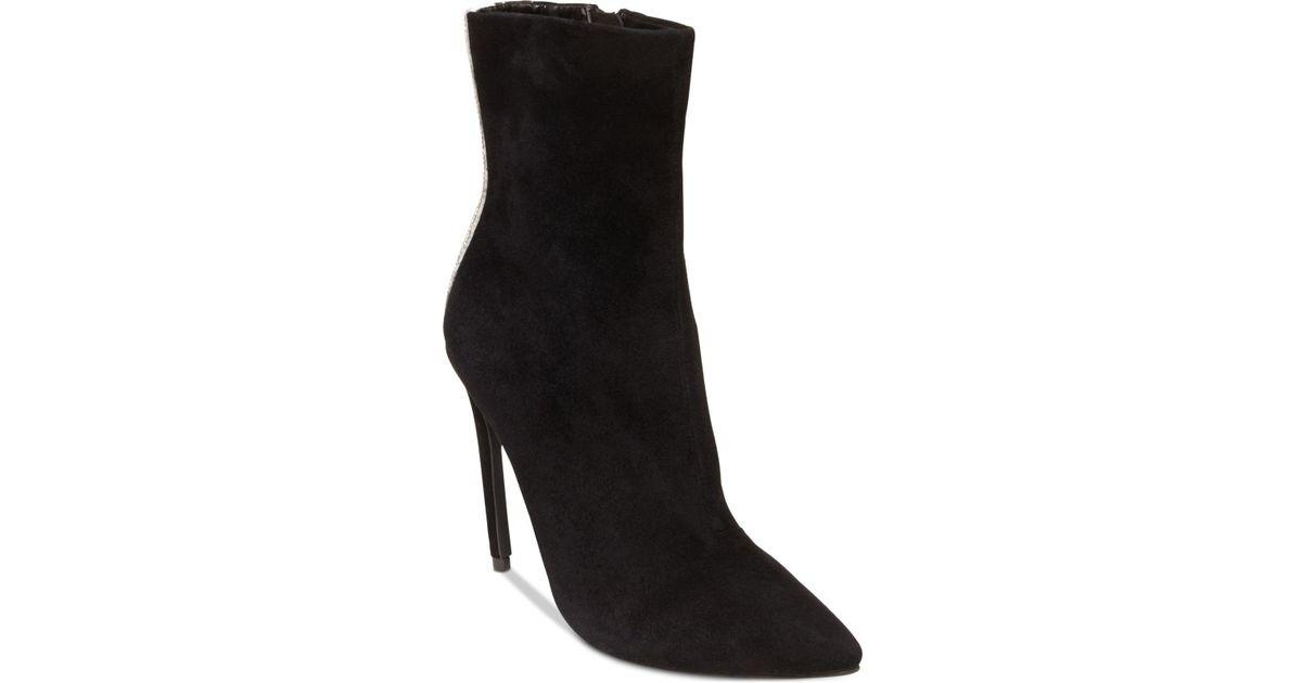 3796d7e9596 Steve Madden Black Wagu Rhinestone-embellished Suede Boots