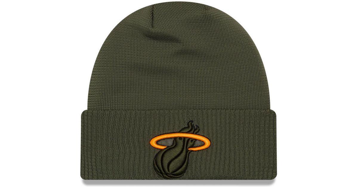 0f0b29a28f2 Lyst - KTZ Miami Heat Tip Pop Cuffed Knit Hat in Green for Men