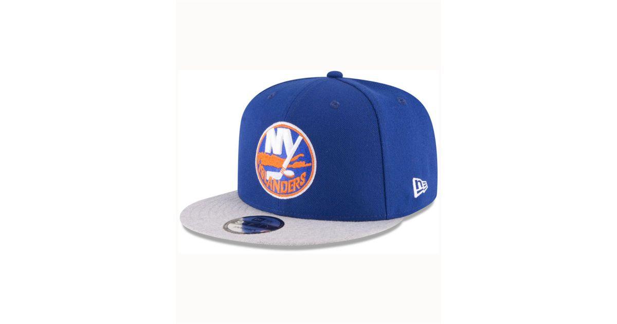 huge discount ff32d d1c0e KTZ New York Islanders Heather Vize 9fifty Snapback Cap in Blue for Men -  Lyst