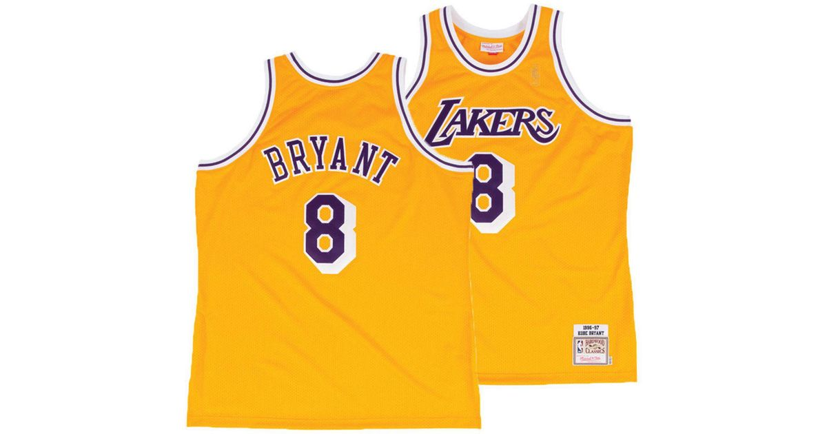 new style 4cb9a 07ac2 Mitchell & Ness Metallic Kobe Bryant Los Angeles Lakers Authentic Jersey  for men