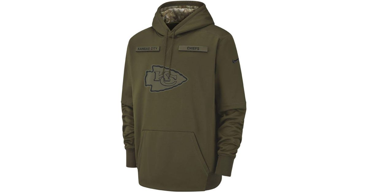 uk availability bd292 fffd1 Nike - Green Kansas City Chiefs Salute To Service Therma Hoodie for Men -  Lyst