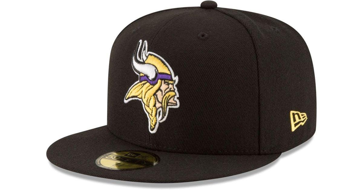 the latest 0e8b0 d706e Lyst - KTZ Minnesota Vikings Team Basic 59fifty Cap in Black for Men