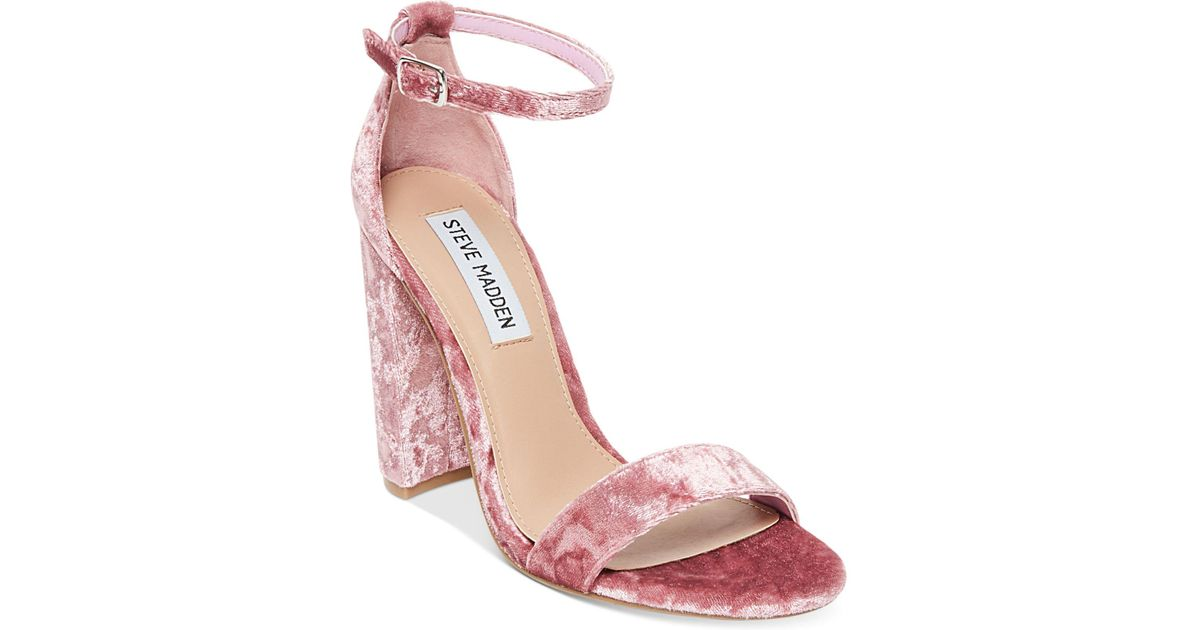 Carrson Crushed Velvet Dress Sandals