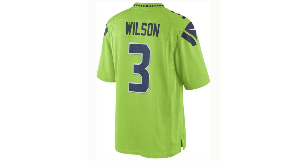 promo code 0af78 c6c63 Nike Green Russell Wilson Seattle Seahawks Limited Color Rush Jersey for men