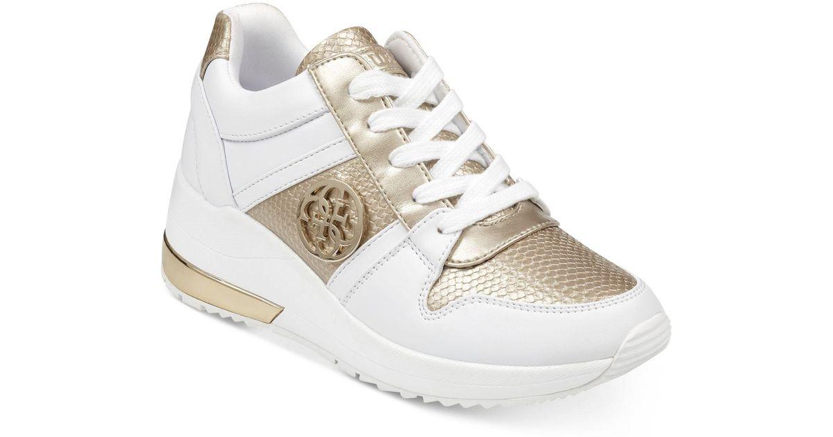 Guess Joyd Wedge Sneakers in White